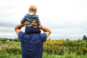 fathers day dad holding kid
